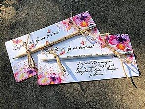 Papiernictvo - Zapíšte si, že sa berieme - s motýľmi - 9802892_