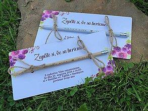 Papiernictvo - Zapíšte si, že sa berieme - s kvetmi I. - 9802894_