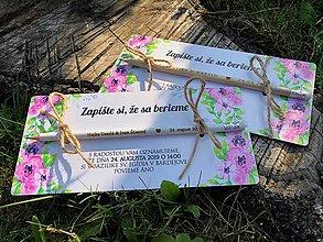 Papiernictvo - Zapíšte si, že sa berieme - s kvetmi II. - 9802895_