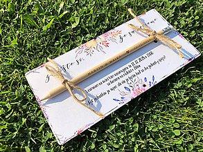 Papiernictvo - Zapíšte si, že sa berieme - letné svadobné oznámenie - 9802896_