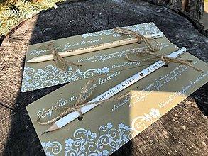 Papiernictvo - Zapíšte si, že sa berieme - svadobné oznámenie s bielym ornamentom - 9802904_