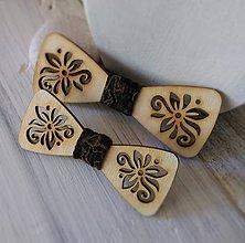 Detské doplnky - Drevené motýliky - otec a syn (Šťastie) - 9802139_