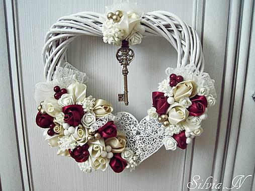 780dd3194 Veniec srdce. / stuhy - SAShE.sk - Handmade Dekorácie