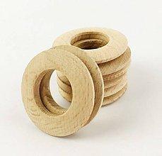Polotovary - Krúžok drevený DONUT natur 5 cm - 9802055_