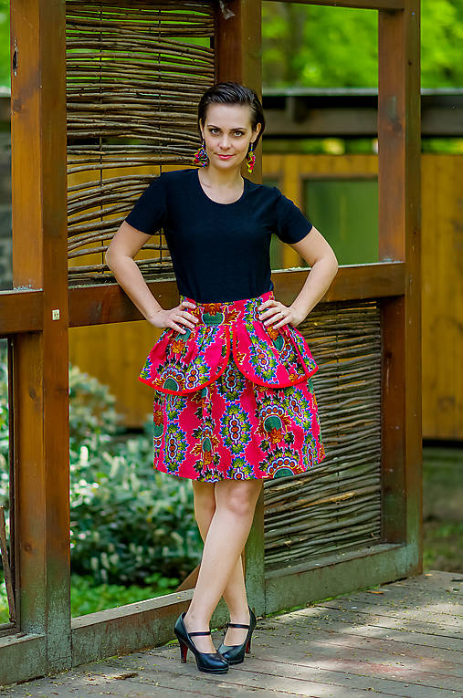 a583585aa352 Midi sukňa Awa   Africana - SAShE.sk - Handmade Sukne