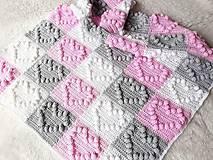 Textil - Dečka so srdiečkami - 9802128_