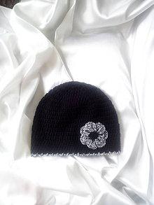 Čiapky - čierna čiapka - 9801456_