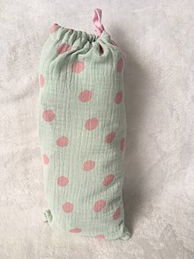 Tehotenské oblečenie - Zásterka a plienočka pre intímne dojčenie Mint Pink - 9801955_