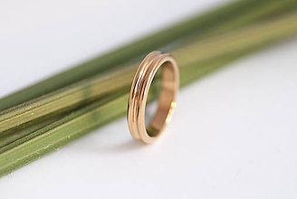 Prstene - Obrúčka polkruhová zvonka - dvojitá - 9802956_