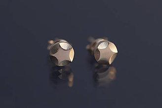 Náušnice - Náušnice hviezdičky päťcípe (striebro) - 9803008_