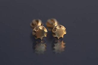 Náušnice - Náušnice slniečka (žlté zlato) - 9803027_