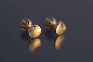 Náušnice - Náušnice mesiačiky (žlté zlato) - 9803038_