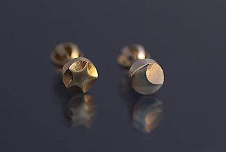 Náušnice - Náušnice kombinovaný pár (mesiačik a päťcípa hviezdička) - 9803055_