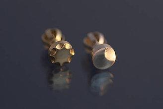 Náušnice - Náušnice kombinovaný pár (mesiačik a slniečko) - 9803057_