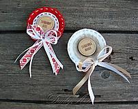 Pierka - Svadobné odznačiky pre rodičov - 9803502_