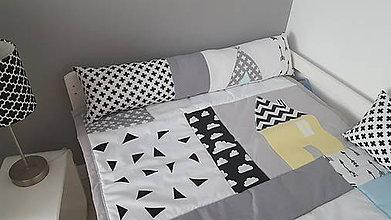 Textil - Podlhovastý vankúš s aplikáciou Tepee 23x90cm - 9805373_