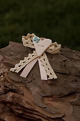 Pierka - Svadobné pierko modro ružové - 9805702_