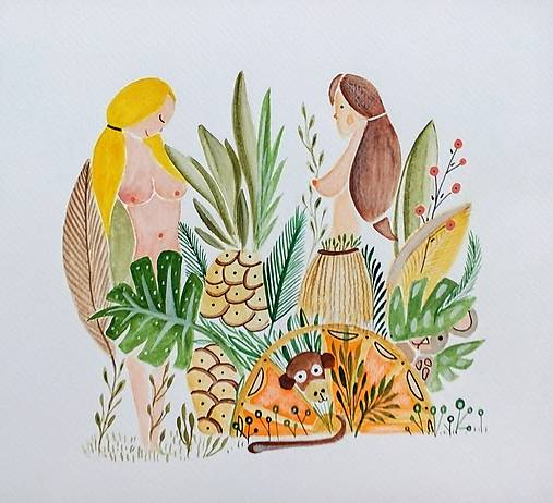 Hawai ilustrácia / originál maľba