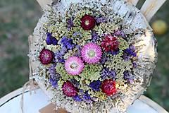 Dekorácie - Venček zo sušených kvetov - 9803282_