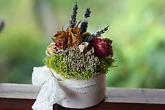 Dekorácie - Kvetinová krabička - 9804479_