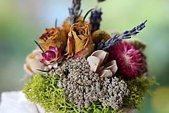 Dekorácie - Kvetinová krabička - 9804480_