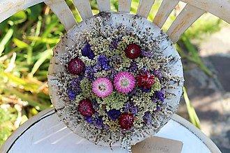 Dekorácie - Venček zo sušených kvetov - 9803280_