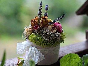 Dekorácie - Kvetinová krabička - 9804478_