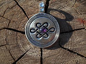 Šperky - celtic amulet -nekonečný uzol III - 9804014_