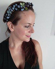 """Ozdoby do vlasov - Čučoriedkový venček """"Blueberry dream"""" - 9804426_"""