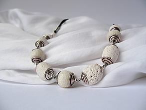 """Náhrdelníky - """"Koral""""biely - 9805380_"""