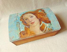 Krabičky - Drevená truhlička Trocha renesančná - 9804609_