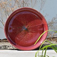 Nádoby - Mělký talíř 28,5 cm - v krají vína Bordeaux ... - 9805405_