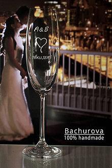 Kytice pre nevestu - Svadobné poháre - 9803574_