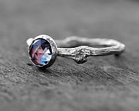 Prstene - Vetvičkový s alexandritom, striebro - 9803825_