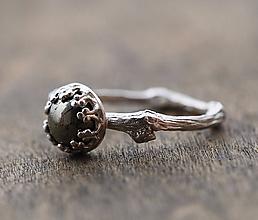 Prstene - Strieborný vetvičkový s pyritem - 9803833_