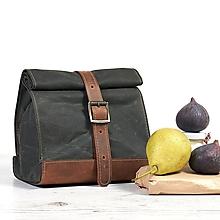 Iné tašky - Zelený lunchbox. Taška na jedlo. - 9804269_