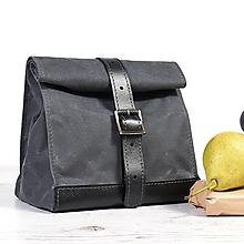 Iné tašky - Sivý lunchbox. Taška na jedlo. - 9804288_