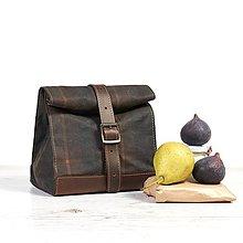 Iné tašky - Lunchbag. Kockovaná taška na jedlo. - 9804305_
