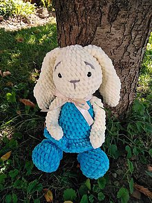 Hračky - Zajačica modro maslová - 9804081_