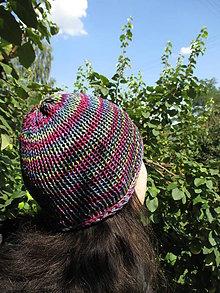 Detské čiapky - JednoFAREBNÁ ČIAPKA, 9 farieb na výber + Vaša farba, 100% merino - aj ako ROLL - UP, ručne/STROJOM pletená (Pestro - farebná) - 9804464_