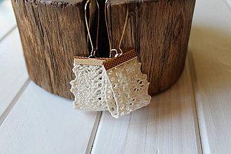 Náušnice - Nežné náušnice z bavlnenej krajky - Romantic - 9804005_