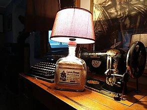Svietidlá a sviečky - Lampa z fľaše Captain Morgan - 9805285_