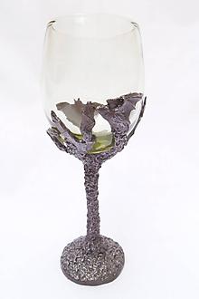 Nádoby - Pohár na víno - netopier - 9803858_