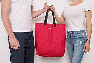 Iné tašky - Kocka / červená - 9805660_