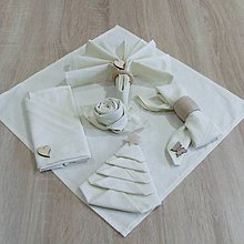 Úžitkový textil - Servítky - UNI smotanové 40x40 - 9805159_