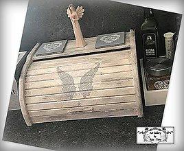 """Nádoby - Chlebník """"Vintage angel wings"""" :) - 9804377_"""