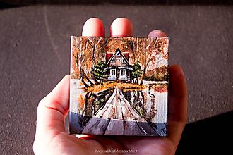 Magnetky - Magnetka Jesenný domček - 9804230_