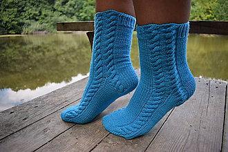 Obuv - 100% MERINO ponožky s osmičkovým vzorom (v.39-40) - 9804738_
