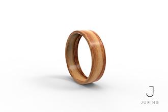 Prstene - Drevený prsteň Oliva - 9804400_