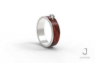 Prstene - Zásnubný PALISANDER - 9804552_